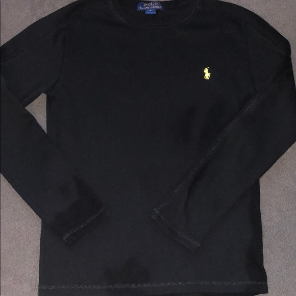 d79b35cb Polo by Ralph Lauren Shirts & Tops | Boys Black Thermal Long Sleeve ...